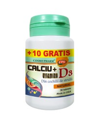 CALCIU + VITAMINA D3 30+10cp